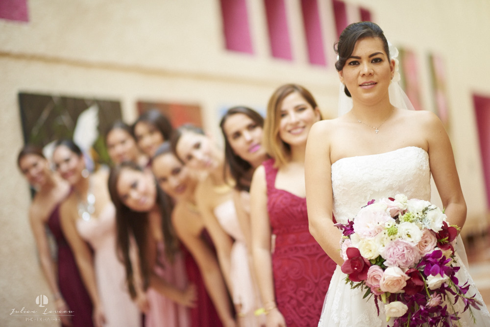 Destination wedding photographer - Real Marriage at the Westin Resort Vallarta - bride and bidesmaid