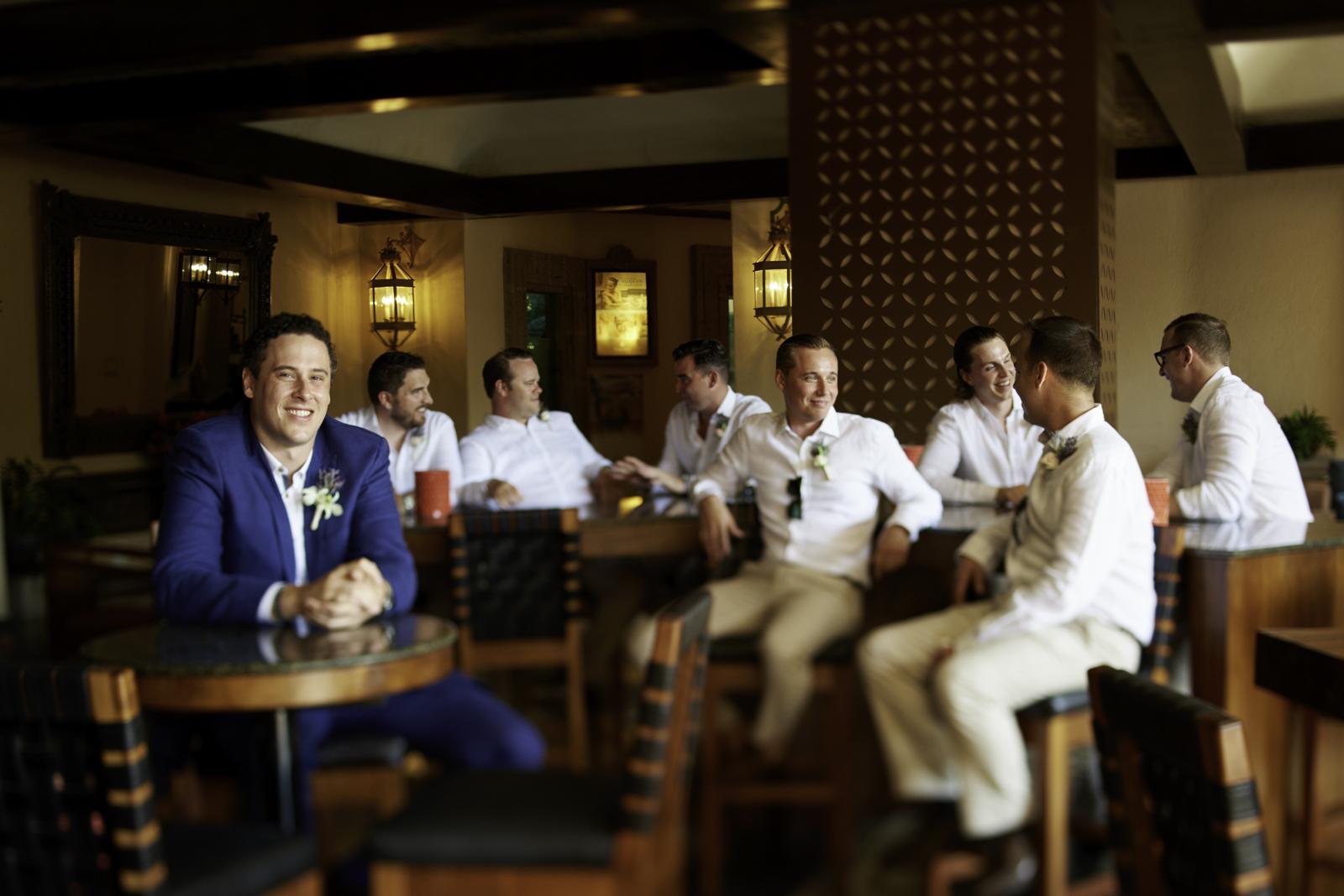 Professional wedding photographer in Puerto Vallarta - Groom and best men