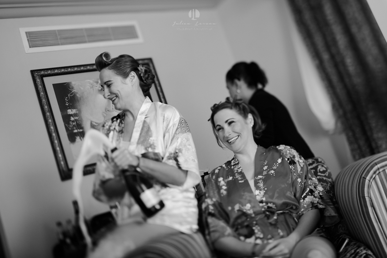 Wedding Photographer in Martoca Beach Garden - Bride getting ready with her twin
