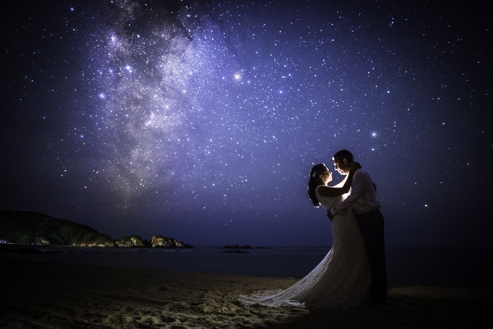 Romantic Photography session under the Milky Way in Mexico