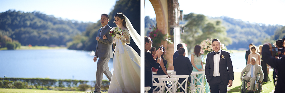 Professional Photographer – Romantic wedding at Sierra Lago, Jalisco, Mexico - bride arriving ceremony