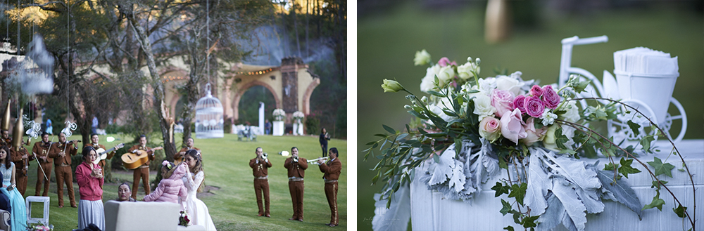 Professional Photographer – Romantic wedding at Sierra Lago, Jalisco, Mexico - mariachis playing