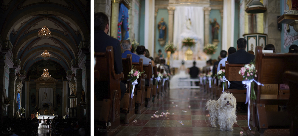 Wedding Photographer - Documentation at San Sebastian del Oeste, Jalisco - inside the church