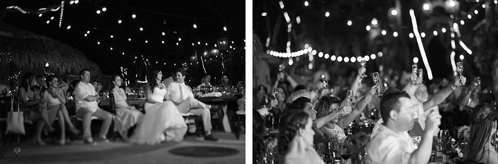 Professional Photographer in Puerto Vallarta - Real Wedding at Casa Karma - happy people