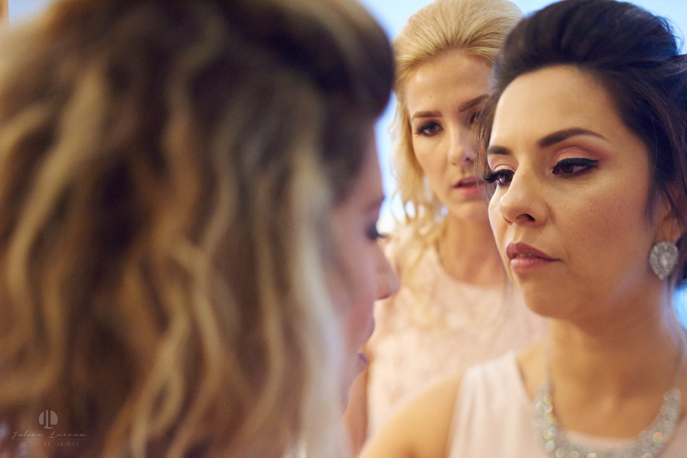 Professional Photographer in Puerto Vallarta - Real Wedding at Casa Karma - Getting ready make up with gals