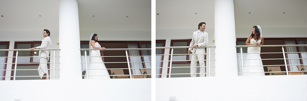 Professional Photographer in Puerto Vallarta - Real Wedding at Casa Karma - Getting ready couple