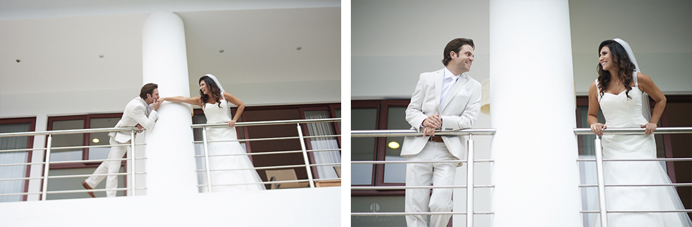 Professional Photographer in Puerto Vallarta - Real Wedding at Casa Karma - Getting ready separate couple