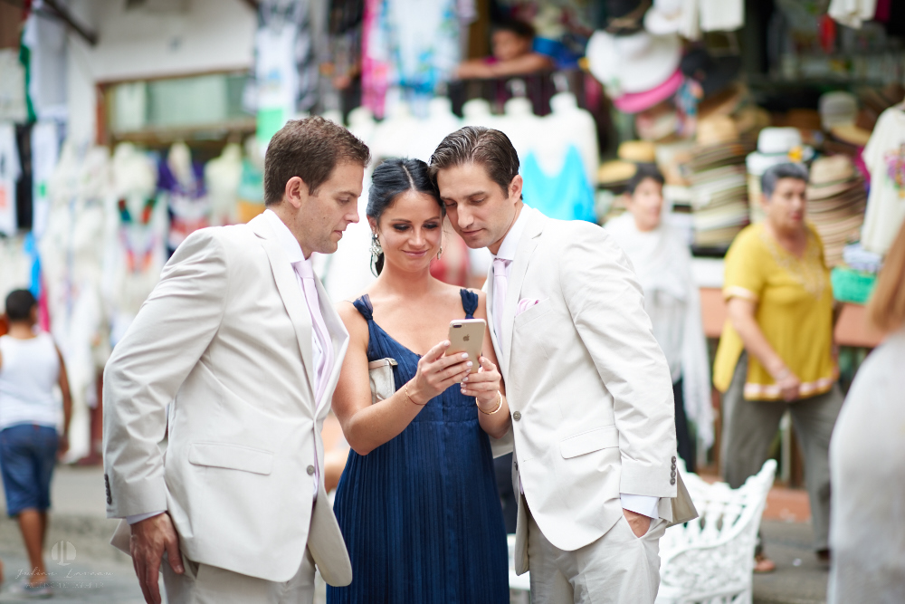 Professional Photographer in Puerto Vallarta - Real Wedding at Casa Karma - Ceremony friends