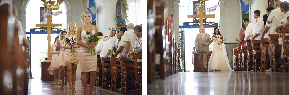 Professional Photographer in Puerto Vallarta - Real Wedding at Casa Karma - Ceremony church seats
