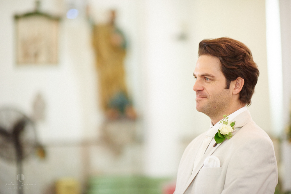 Professional Photographer in Puerto Vallarta - Real Wedding at Casa Karma - Ceremony groom waiting