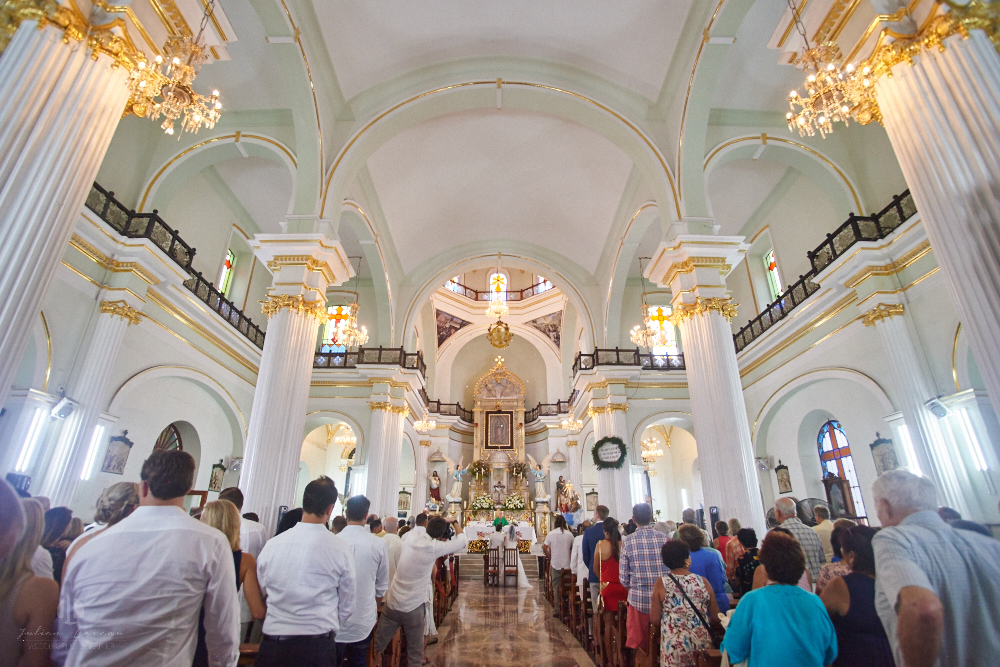 Professional Photographer in Puerto Vallarta - Real Wedding at Casa Karma - Ceremony inside church