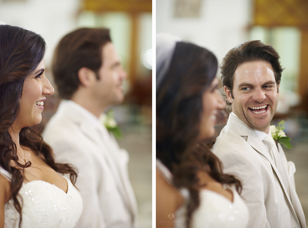 Professional Photographer in Puerto Vallarta - Real Wedding at Casa Karma - Ceremony smiling