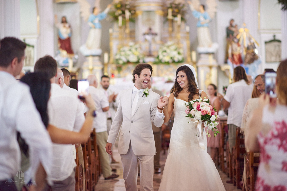 Professional Photographer in Puerto Vallarta - Real Wedding at Casa Karma - Ceremony walking out the aisle