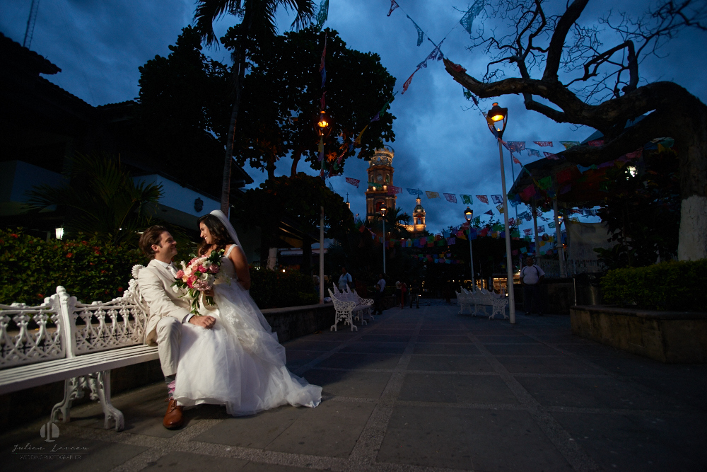 Professional Photographer in Puerto Vallarta - Real Wedding at Casa Karma - artistic photography church