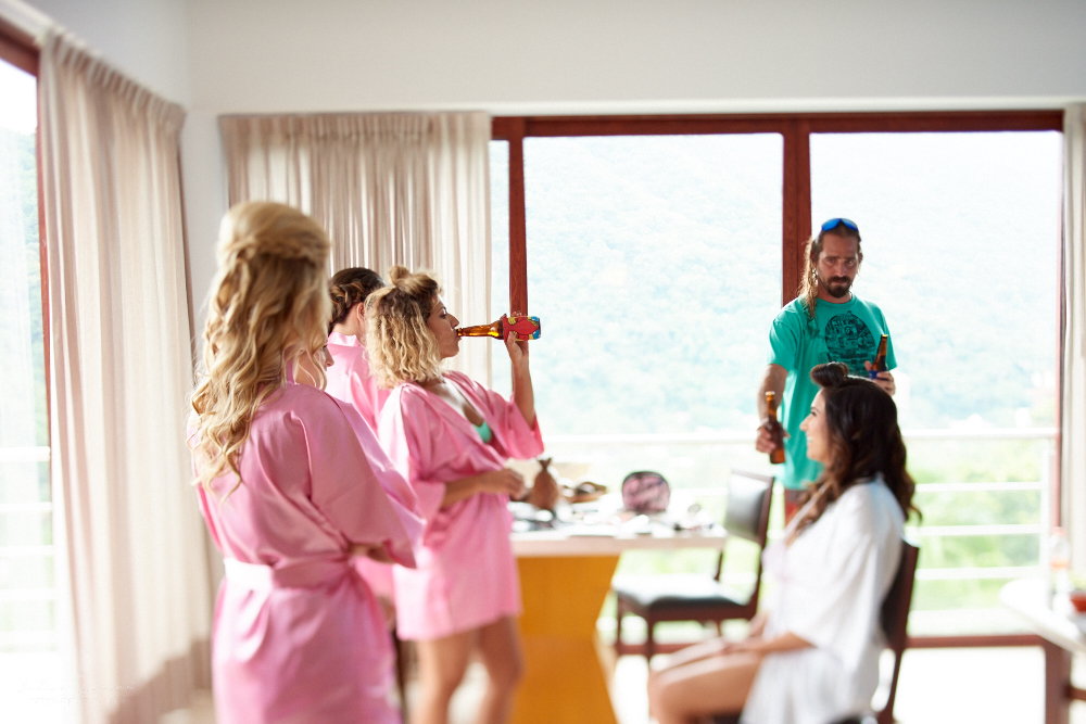 Professional Photographer in Puerto Vallarta - Real Wedding at Casa Karma - Getting Ready Bride and maids