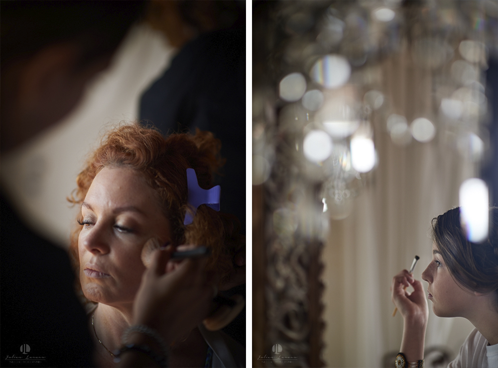 Professional wedding Photographer in Puerto Vallarta - Hacienda San Angel - getting ready make up