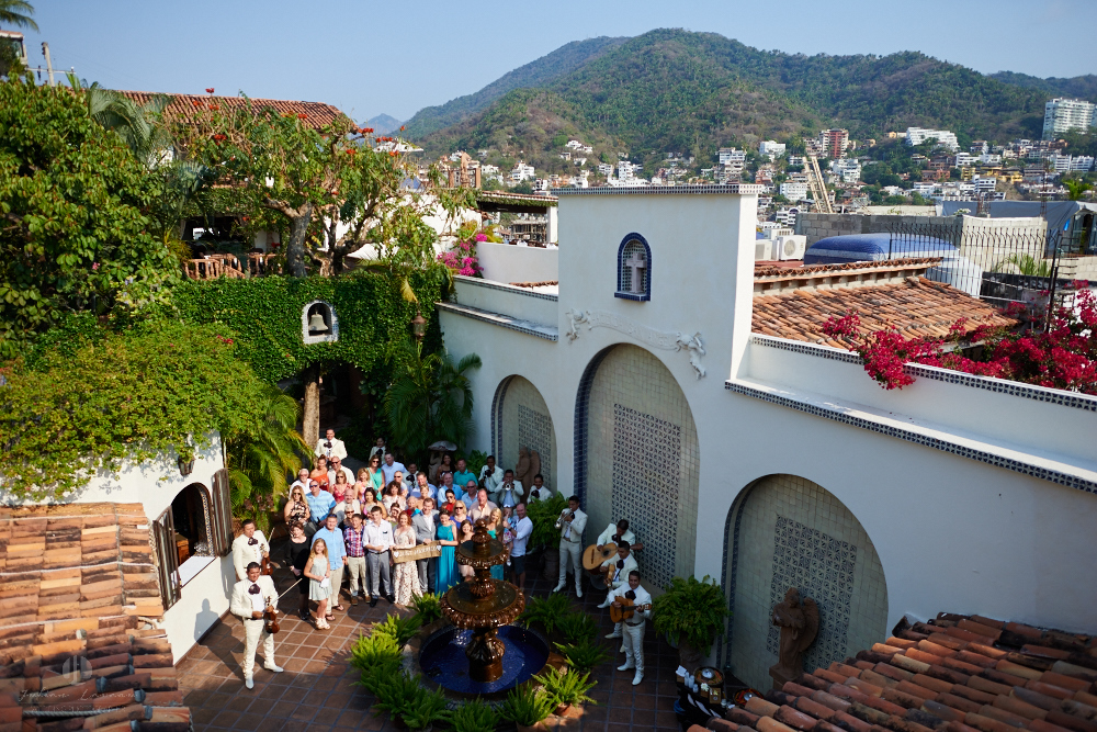 Professional wedding Photographer in Puerto Vallarta - Hacienda San Angel - from the roof