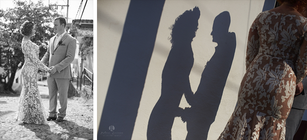 Professional wedding Photographer in Puerto Vallarta - Hacienda San Angel - artistic photography shadows