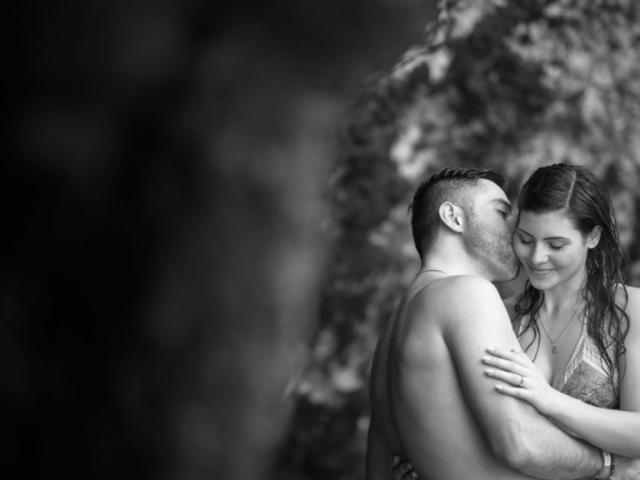 Wedding proposal at Marietas Islands