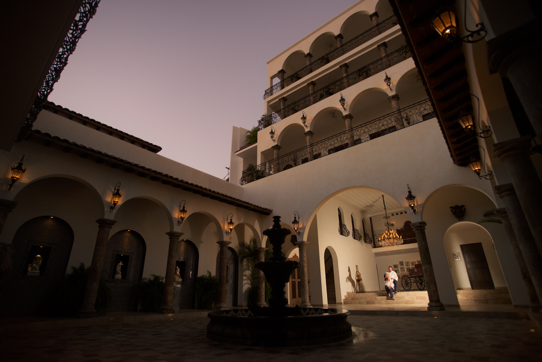 Wedding photographer in Puerto Vallarta - LGBT couple in hacienda san angel sunset