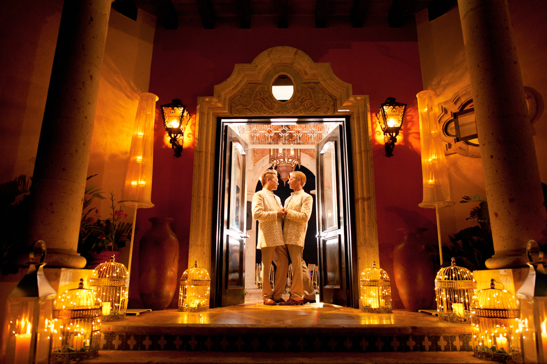 Wedding photographer in Puerto Vallarta - LGBT couple in hacienda
