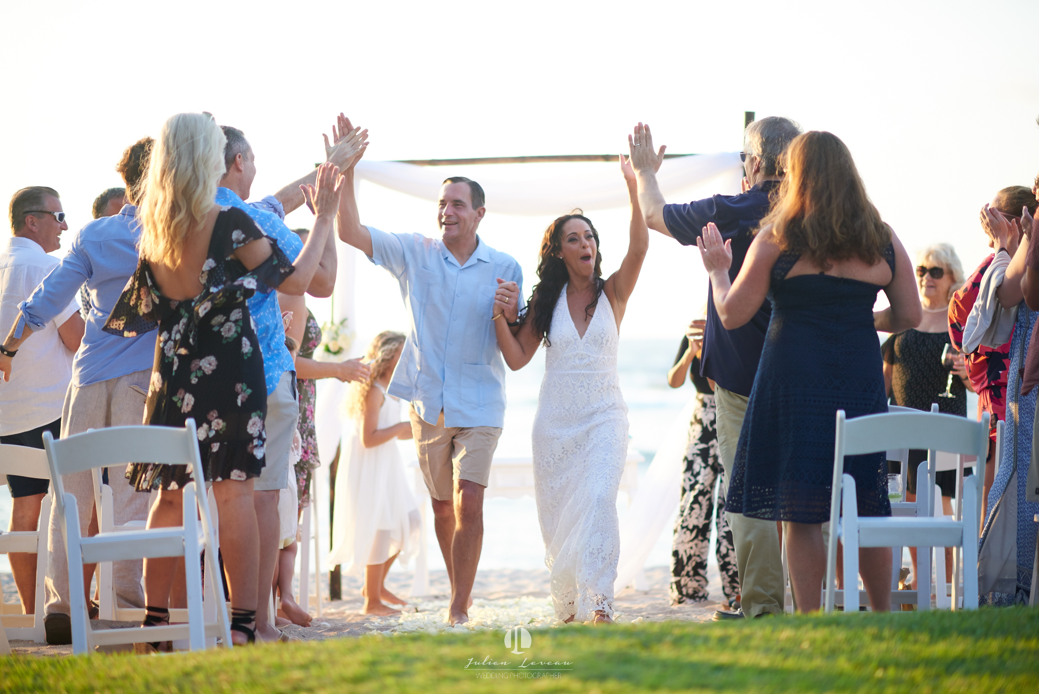 Punta Mita photographer - wedding at the beach club just married
