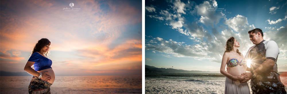 Maternity Photo Shoot - Puerto Vallarta during sunset