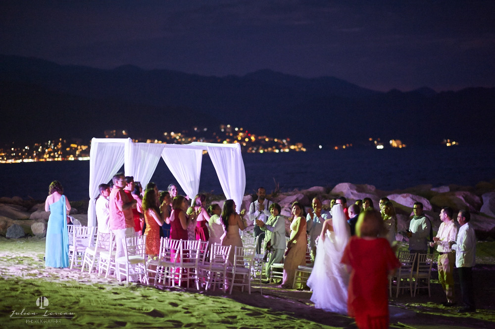 Destination wedding photographer - Real Marriage at the Westin Resort Vallarta - altar on the beach