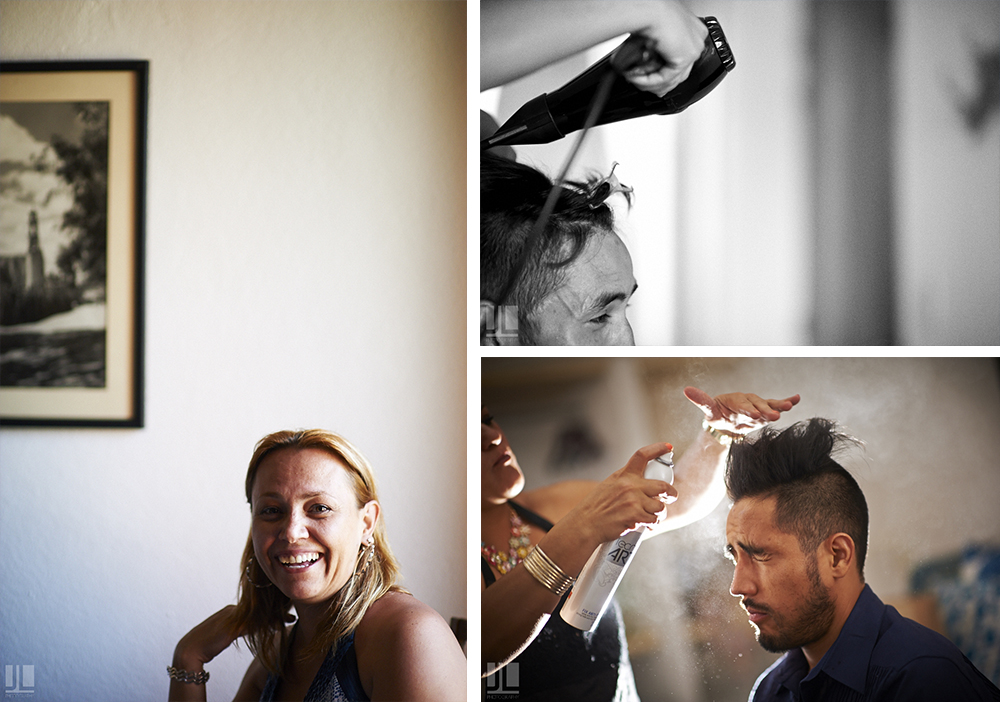 Professional Photographer - Real wedding at San Pancho, Nayarit - hair dresser