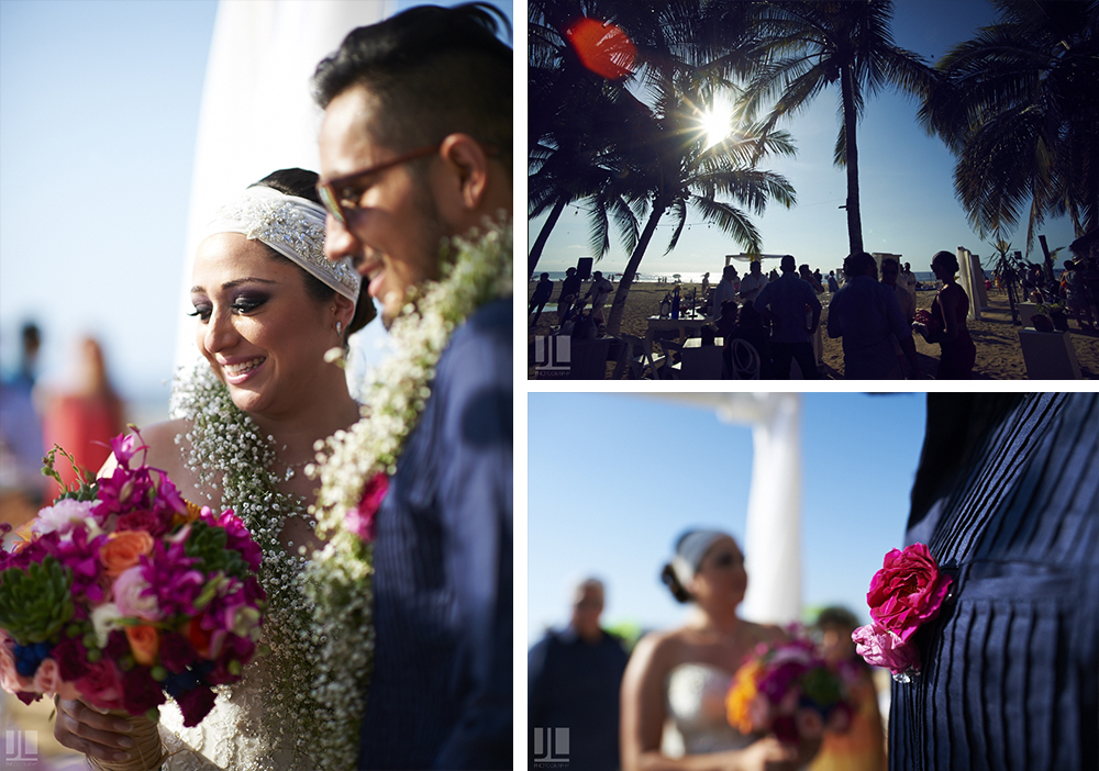 Professional Photographer - Real wedding at San Pancho, Nayarit - party on the beach