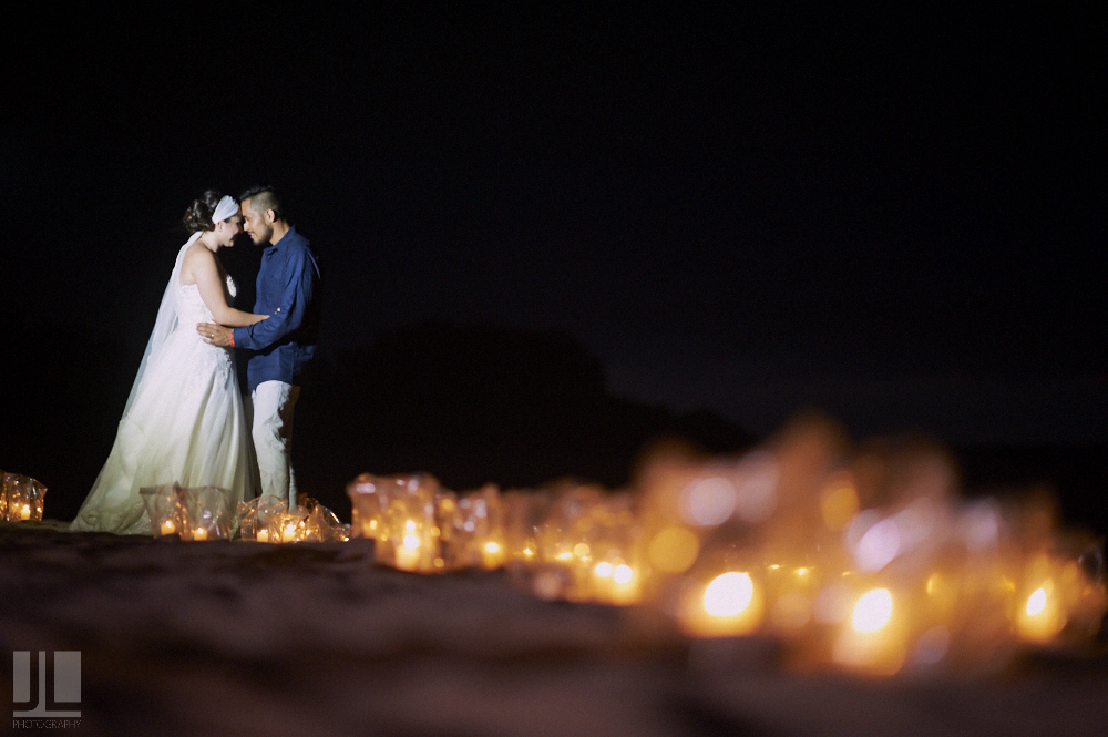 Professional Photographer - Real wedding at San Pancho, Nayarit - night shot