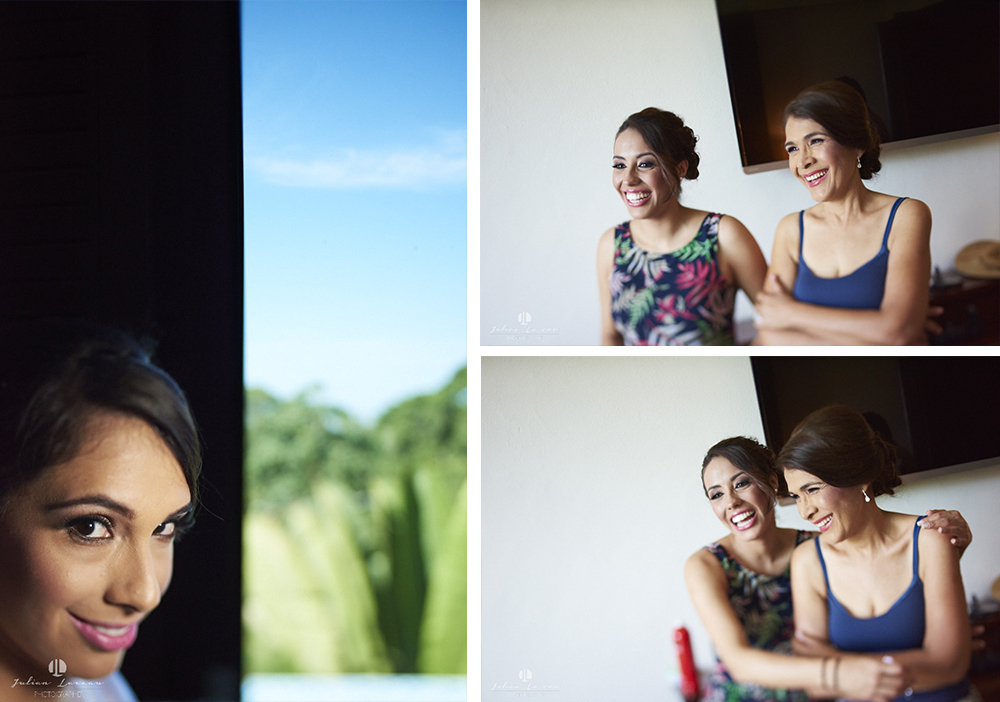 Wedding photographer - Hacienda San Pancho, Nayarit - getting ready family