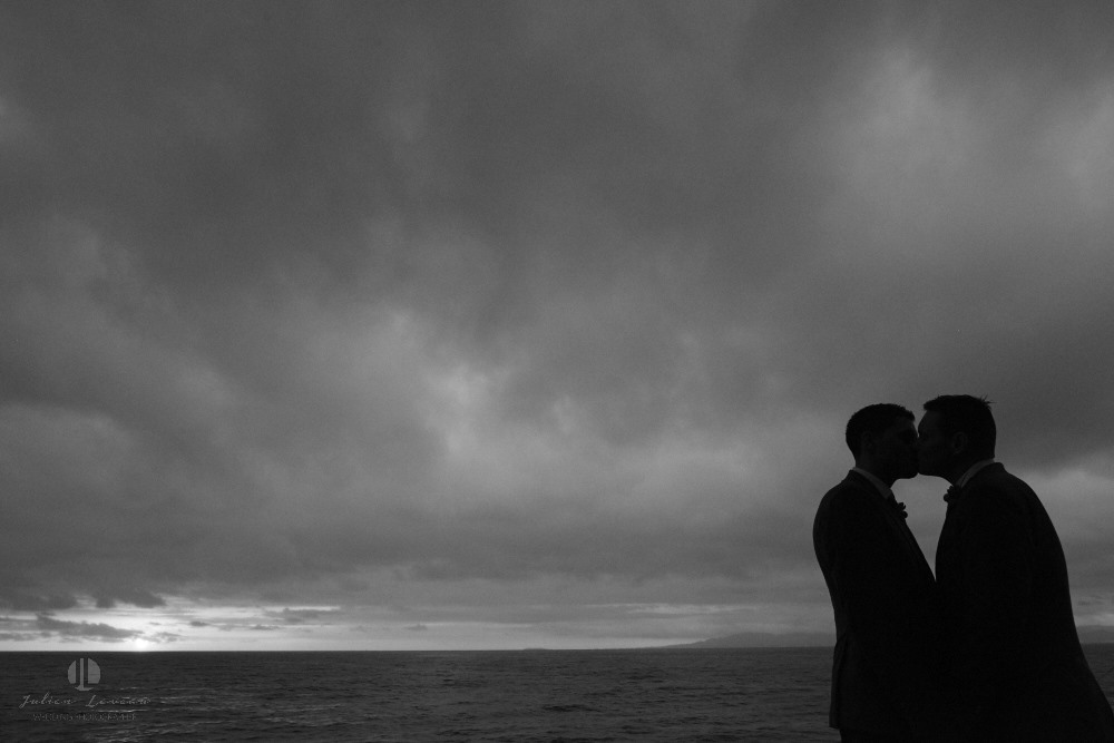 Professional Photographer in Puerto Vallarta - LGBT wedding during storm season