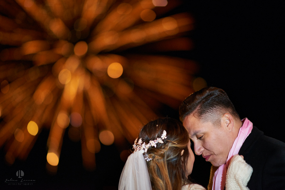 Professional Photographer – Romantic wedding at Sierra Lago, Jalisco, Mexico - fireworks