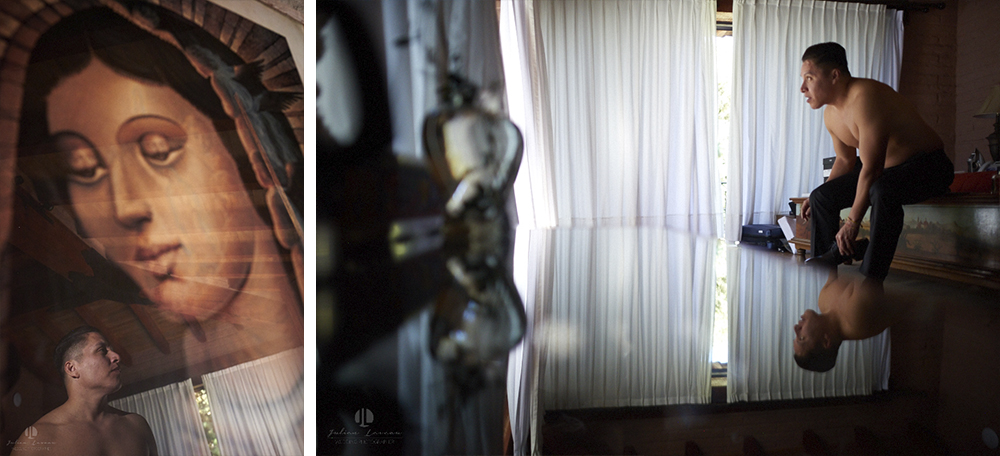 Professional Photographer – Romantic wedding at Sierra Lago, Jalisco, Mexico - hotel room getting ready