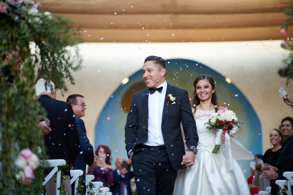 Professional Photographer – Romantic wedding at Sierra Lago, Jalisco, Mexico - walking out the aisle