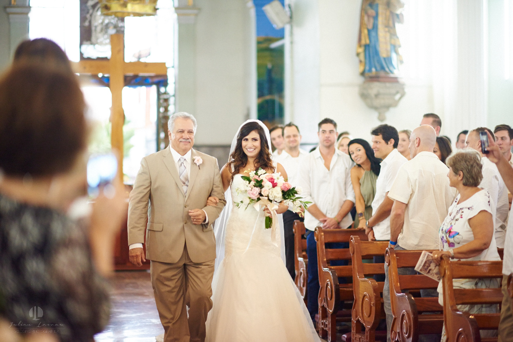 Professional Photographer in Puerto Vallarta - Real Wedding at Casa Karma - Ceremony wife and dad