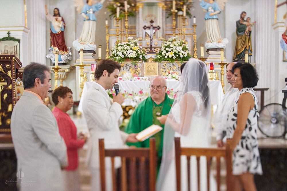 Professional Photographer in Puerto Vallarta - Real Wedding at Casa Karma - Ceremony priest