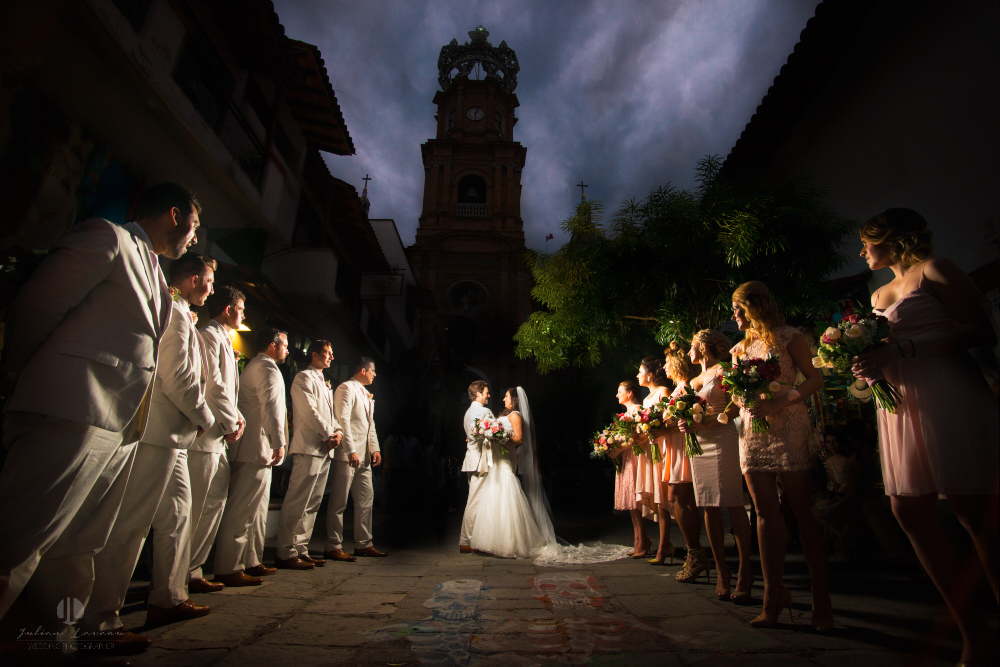 Professional Photographer in Puerto Vallarta - Real Wedding at Casa Karma - church by night