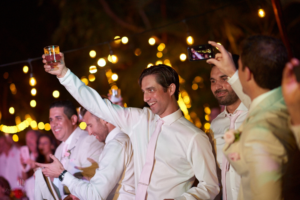 Professional Photographer in Puerto Vallarta - Real Wedding at Casa Karma - cheers