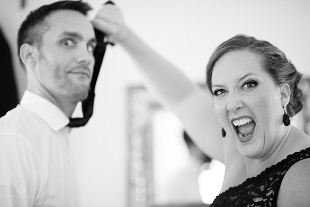 Professional Photographer in Sayulita, Nayarit - Destination Mexico - Getting ready Photo-journalism groom funny picture