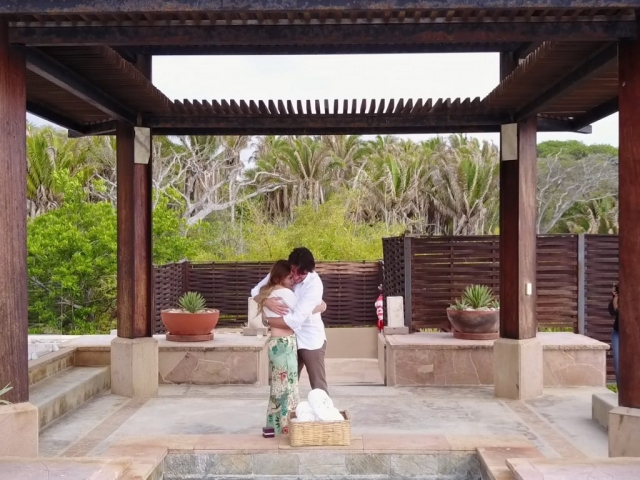 Wedding proposal at the Imanta resort - surprise