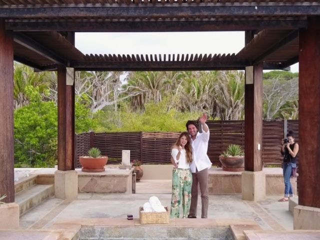 Wedding proposal at the Imanta resort - surprise by drone