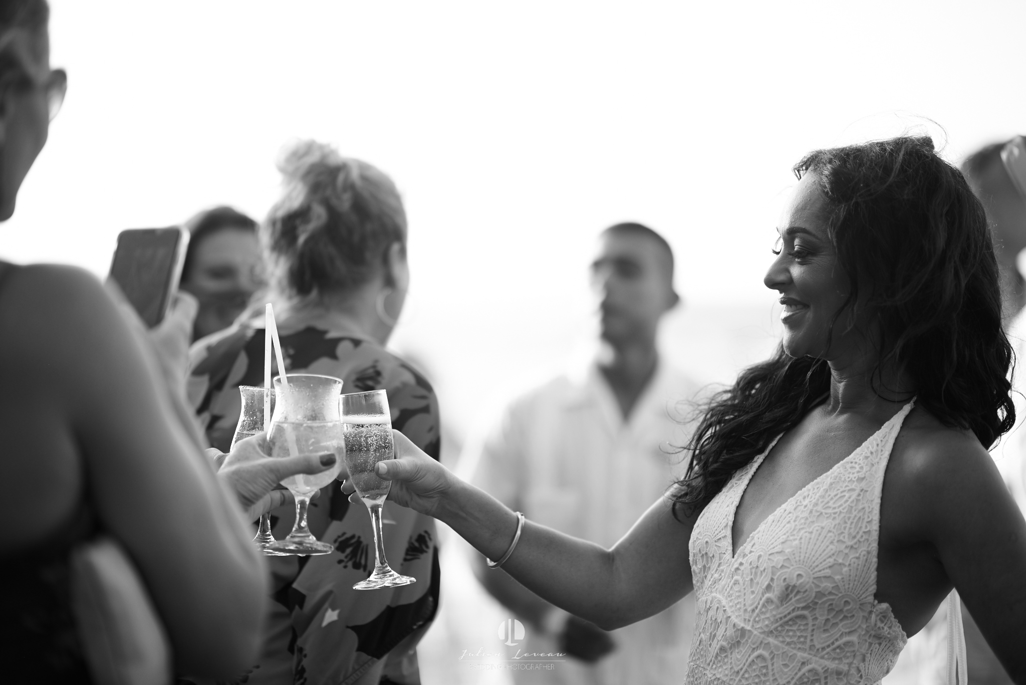 Punta Mita photographer - wedding at the beach club toast